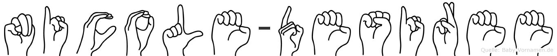 Nicole-Desiree im Fingeralphabet der Deutschen Gebärdensprache