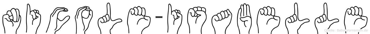 Nicole-Isabelle im Fingeralphabet der Deutschen Gebärdensprache