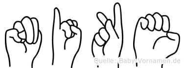 Nike in Fingersprache für Gehörlose