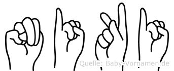 Niki im Fingeralphabet der Deutschen Gebärdensprache