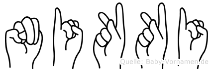 Nikki in Fingersprache für Gehörlose
