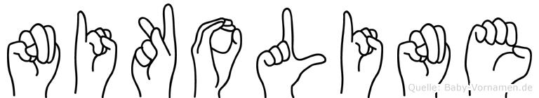 Nikoline im Fingeralphabet der Deutschen Gebärdensprache