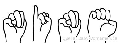 Nine im Fingeralphabet der Deutschen Gebärdensprache