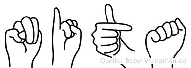 Nita in Fingersprache für Gehörlose