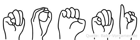 Noemi in Fingersprache für Gehörlose