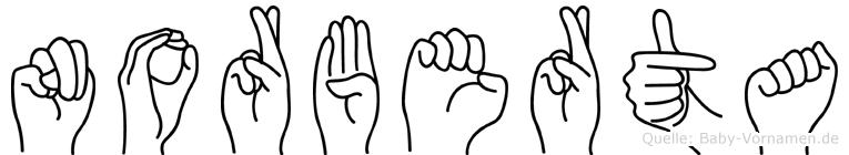 Norberta in Fingersprache für Gehörlose
