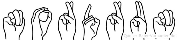 Nordrun in Fingersprache für Gehörlose
