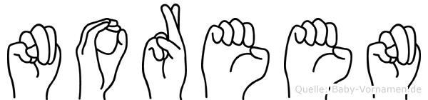 Noreen im Fingeralphabet der Deutschen Gebärdensprache