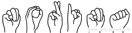 Norina in Fingersprache für Gehörlose