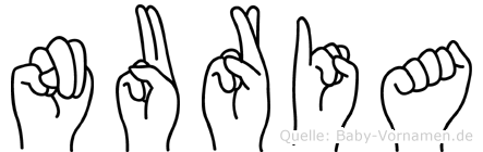 Nuria im Fingeralphabet der Deutschen Gebärdensprache