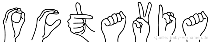Octavia in Fingersprache für Gehörlose