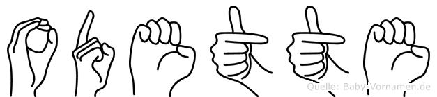Odette in Fingersprache für Gehörlose