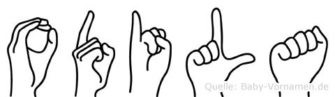 Odila in Fingersprache für Gehörlose