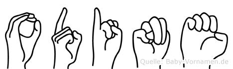 Odine im Fingeralphabet der Deutschen Gebärdensprache