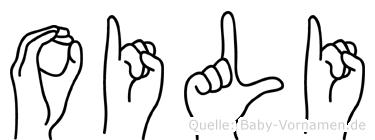 Oili im Fingeralphabet der Deutschen Gebärdensprache