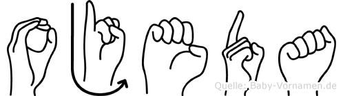 Ojeda in Fingersprache für Gehörlose