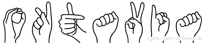 Oktavia in Fingersprache für Gehörlose