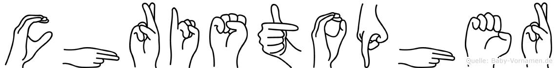 Christopher in Fingersprache für Gehörlose