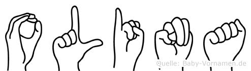 Olina in Fingersprache für Gehörlose