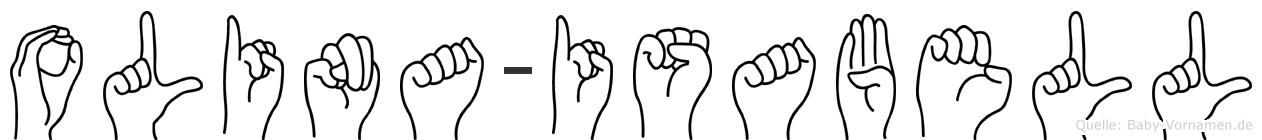 Olina-Isabell im Fingeralphabet der Deutschen Gebärdensprache