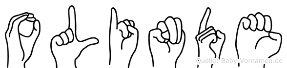 Olinde im Fingeralphabet der Deutschen Gebärdensprache