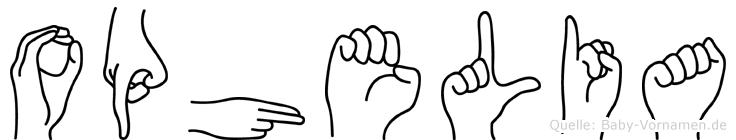 Ophelia im Fingeralphabet der Deutschen Gebärdensprache