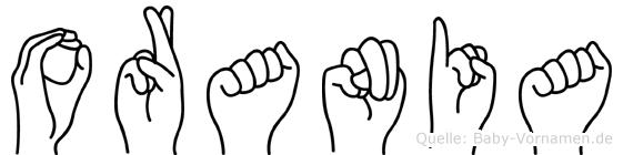 Orania in Fingersprache für Gehörlose