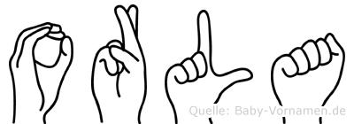 Orla im Fingeralphabet der Deutschen Gebärdensprache