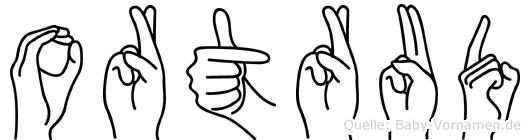 Ortrud in Fingersprache für Gehörlose