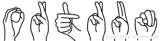Ortrun im Fingeralphabet der Deutschen Gebärdensprache