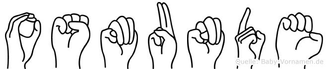 Osmunde im Fingeralphabet der Deutschen Gebärdensprache