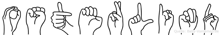 Osterlind im Fingeralphabet der Deutschen Gebärdensprache