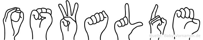 Oswalde im Fingeralphabet der Deutschen Gebärdensprache