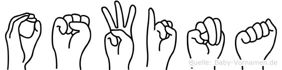 Oswina im Fingeralphabet der Deutschen Gebärdensprache