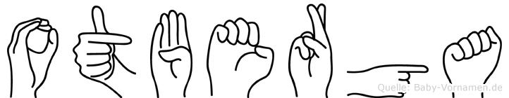 Otberga im Fingeralphabet der Deutschen Gebärdensprache