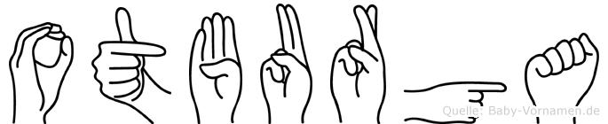 Otburga im Fingeralphabet der Deutschen Gebärdensprache
