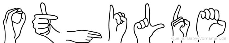 Othilde im Fingeralphabet der Deutschen Gebärdensprache