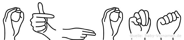 Othona im Fingeralphabet der Deutschen Gebärdensprache