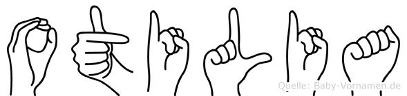 Otilia im Fingeralphabet der Deutschen Gebärdensprache