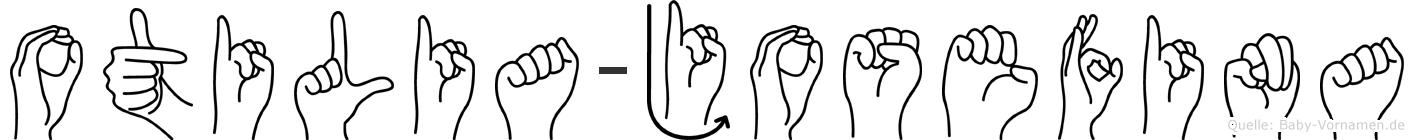 Otilia-Josefina im Fingeralphabet der Deutschen Gebärdensprache