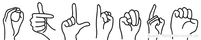 Otlinde im Fingeralphabet der Deutschen Gebärdensprache