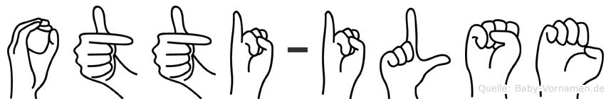 Otti-Ilse im Fingeralphabet der Deutschen Gebärdensprache