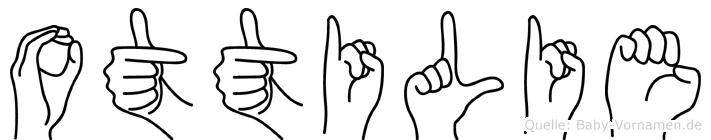 Ottilie in Fingersprache für Gehörlose