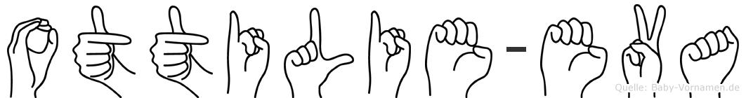 Ottilie-Eva im Fingeralphabet der Deutschen Gebärdensprache