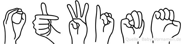 Otwine im Fingeralphabet der Deutschen Gebärdensprache