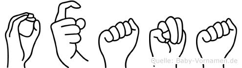 Oxana in Fingersprache für Gehörlose