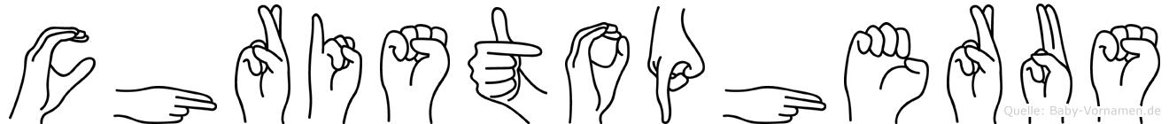 Christopherus im Fingeralphabet der Deutschen Gebärdensprache