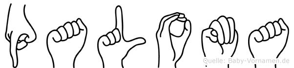 Paloma im Fingeralphabet der Deutschen Gebärdensprache