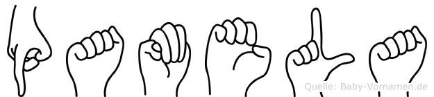 Pamela im Fingeralphabet der Deutschen Gebärdensprache