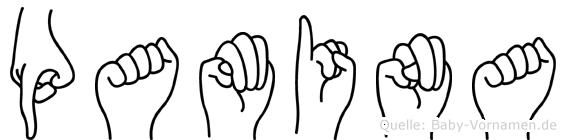 Pamina im Fingeralphabet der Deutschen Gebärdensprache
